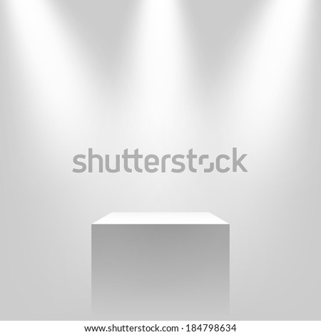 Pedestal with light source vector illustration