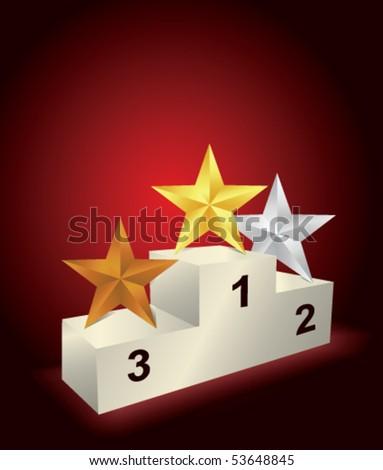 Pedestal with three star