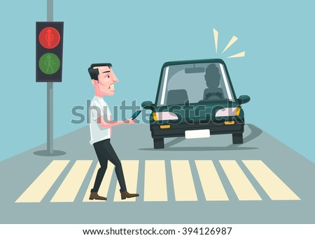 pedestrian accident vector