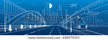 pedestrian bridge across the...