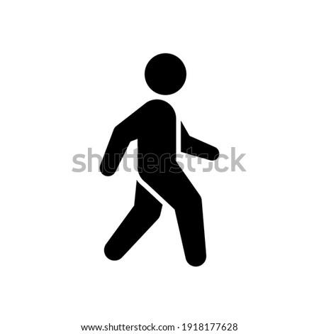 Pedestrian glyph icon or walking concept
