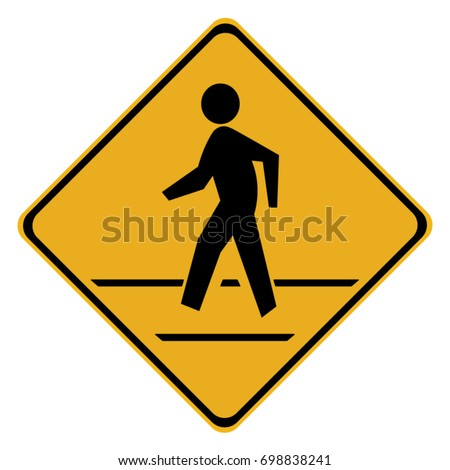 Pedestrian Traffic Sign isolated on white background.