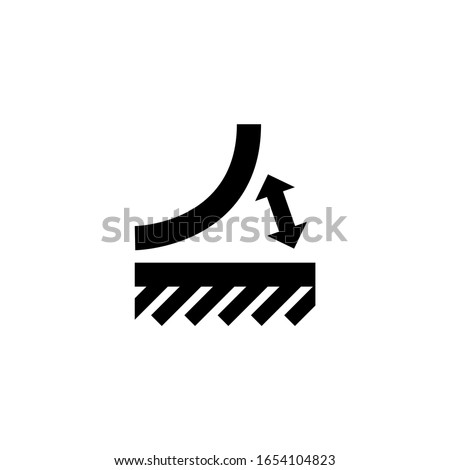 Peeled Off Material, Tear Off Glued. Flat Vector Icon illustration. Simple black symbol on white background. Peeled Off Material, Tear Off Glued sign design template for web and mobile UI element