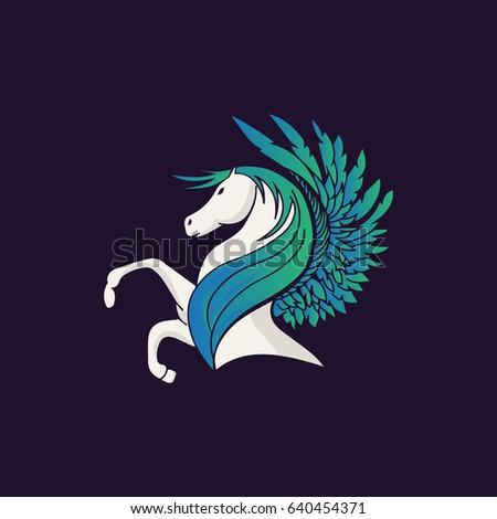 Pegasus Vector Illustration. Horse Vector Illustration