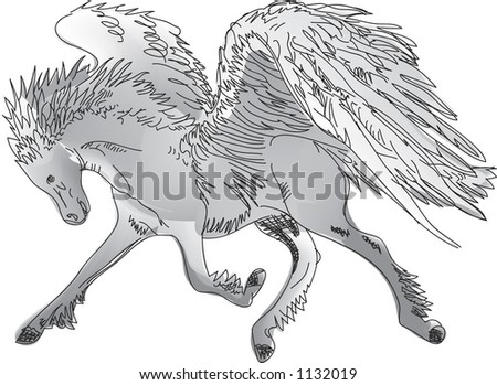 Pegasus(Winged Horse),Illustration - 1132019 : Shutterstock