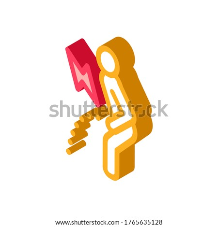 Pelvic Pain Icon Vector. Isometric Pelvic Pain sign. color isolated symbol illustration