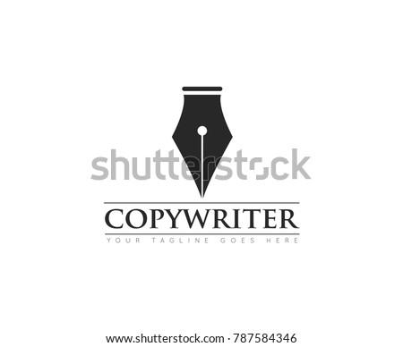 pen concept logo, icon, symbol, ilustration design template