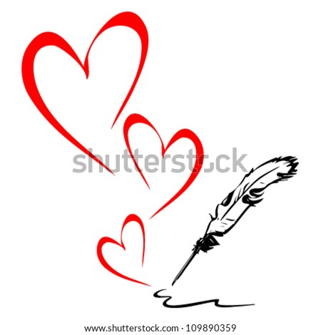 stock-vector-pen-draws-the-heart