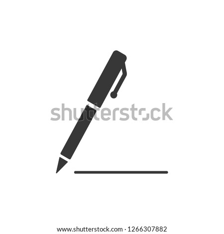 Pen icon, isolated. Flat design.