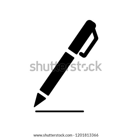 Pen sign icon,vector