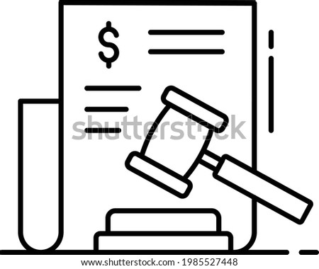 Penalty and Fine Concept, financial frauds Vector Icon Design, Business and Management Symbol, Banking and finance Sign, ECommerce and Delivery Stock illustration