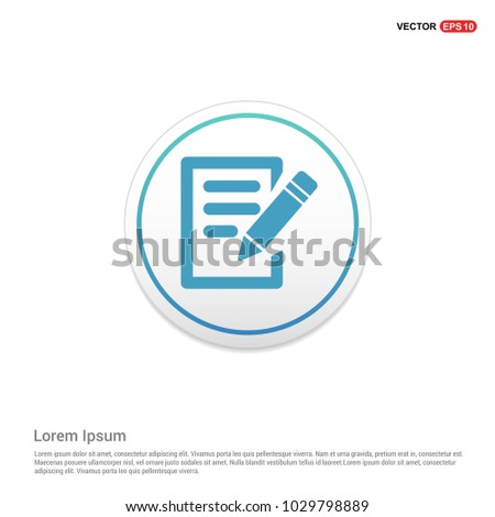 Pencil and Note Icon Hexa White Background icon template