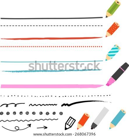 pencil and pen lines Сток-фото ©