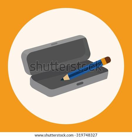 Pencil case theme elements #319748327