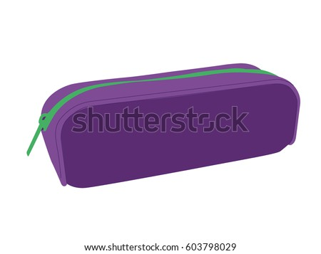 Pencil case vector purpure