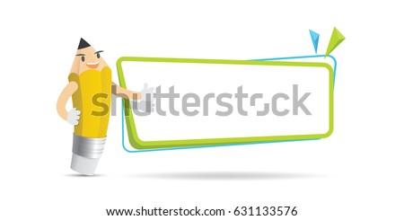 pencil character cartoon design