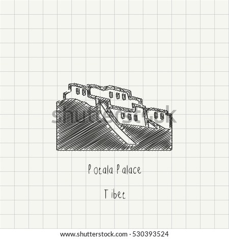 pencil drawing of the potala