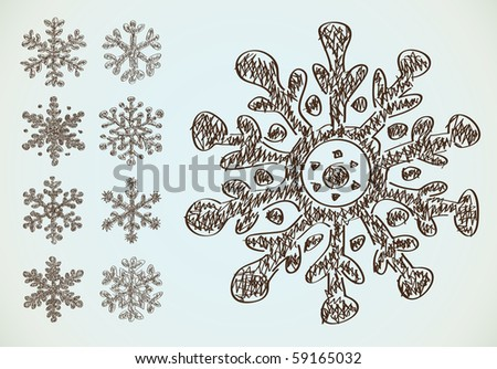 Snowflake Pencil Drawing