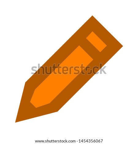 Pencil icon. flat illustration of Pencil. vector icon. Pencil sign symbol