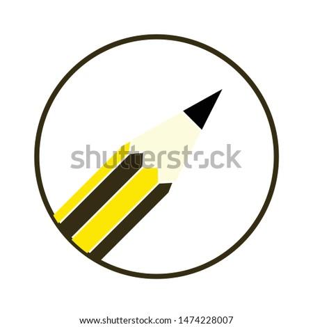 pencil icon. flat illustration of pencil vector icon. pencil sign symbol
