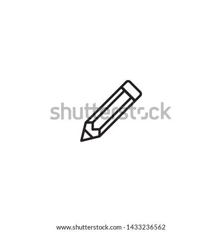 pencil icon flat symbol Illustration - Vector