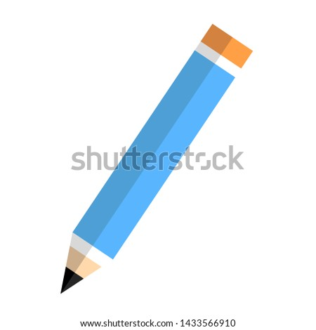 Pencil Icon flat vector illustration logo sign/symbol. For mobile user interface. Isolated on white background. EPS 10. #1433566910