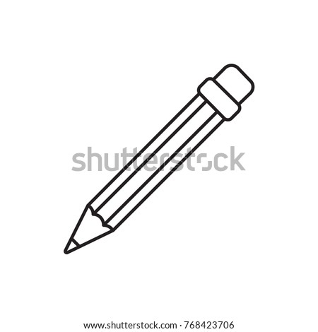 pencil icon illustration isolated vector sign symbol