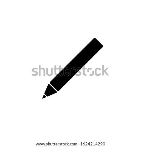 Pencil icon in the vector form. Black colour pencil icon. Pencil icon EPS illustration. Pencil icon for education