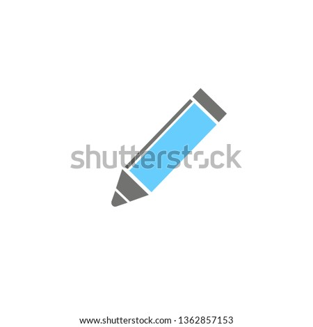pencil icon on white background, vector symbol  #1362857153