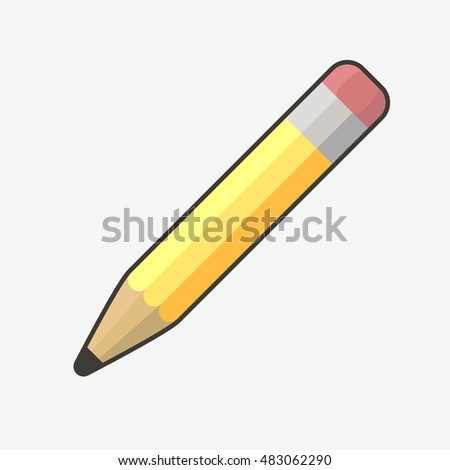 Pencil icon. Pencil isolated. Vector pencil. Flat design vector illustration