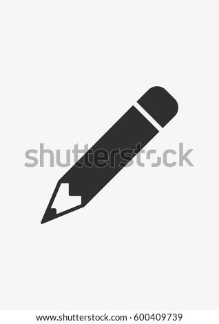 Pencil icon, Vector