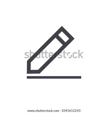 pencil icon vector EPS10