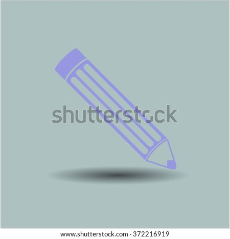 Pencil icon vector illustration