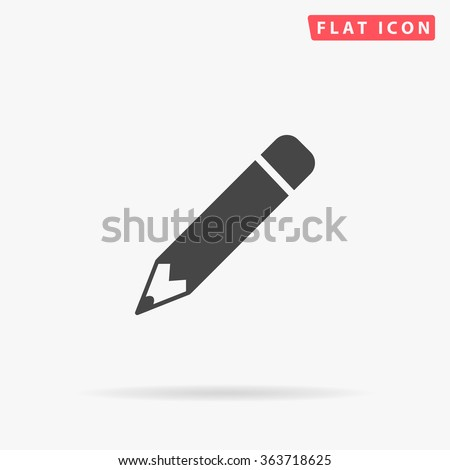 Pencil Icon Vector. Perfect Black pictogram illustration on white background.