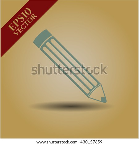 pencil icon vector symbol flat eps jpg app web concept website