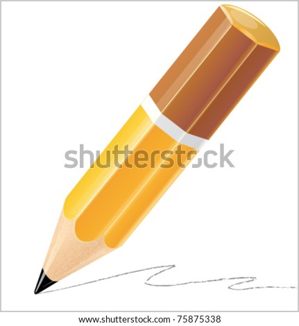 Pencil isolated detailed vector illustration