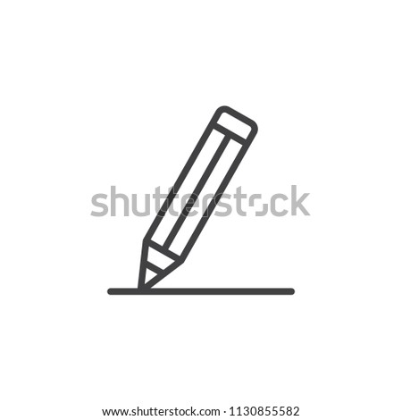 Pencil outline icon. linear style sign for mobile concept and web design. Crayon simple line vector icon. Edit, write symbol, logo illustration. Vector graphics