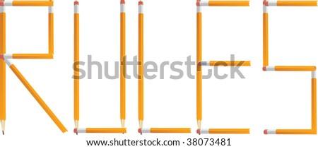 Pencil Rules Vector