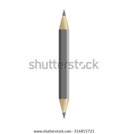 pencil sharpened on both sides, vector