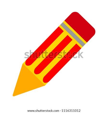 Pencil sign icon - Edit site content, creative design - graphic element