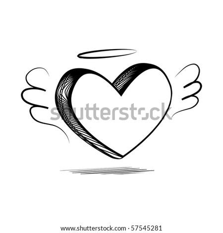pencil sketch heart