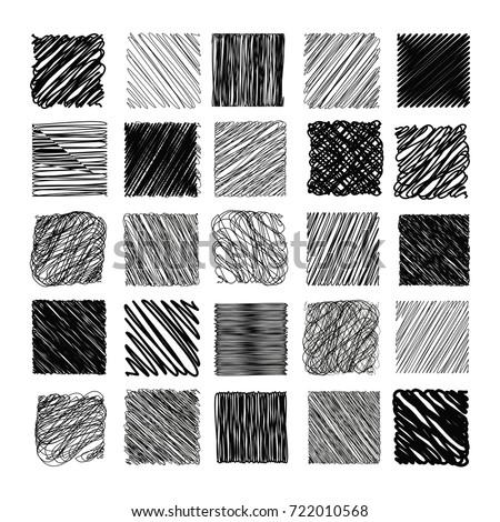 Pencil Sketch Texture Vector Set