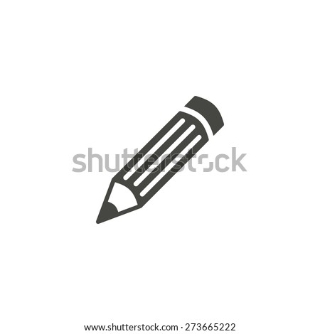Pencil - vector icon in black on a white background.