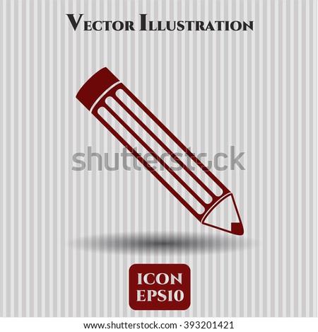 Pencil vector icon or symbol
