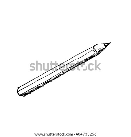 Pencil - vector sketch drawing
