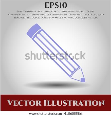 Pencil vector symbol