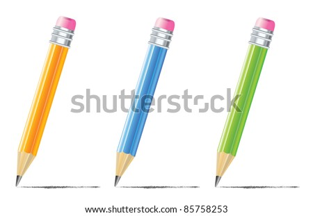 pencil with color variations