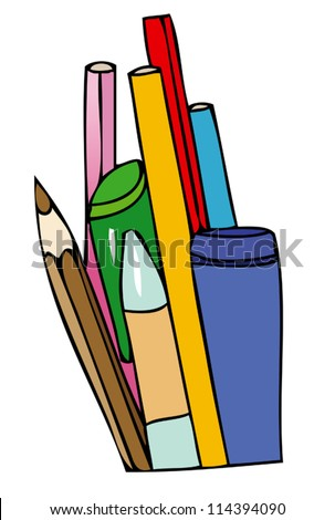 Pencils and pens for school