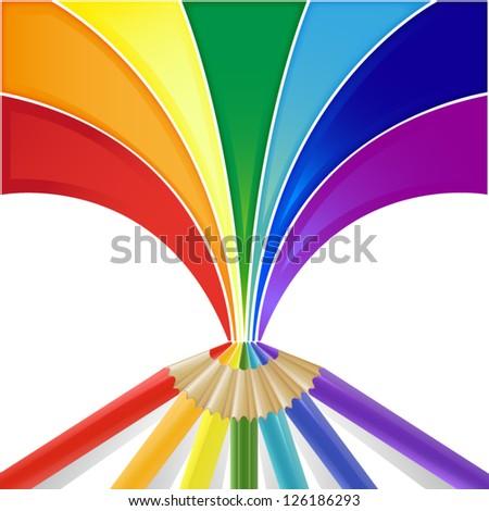 pencils draw a rainbow