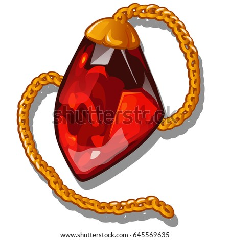 pendant in the shape of a red